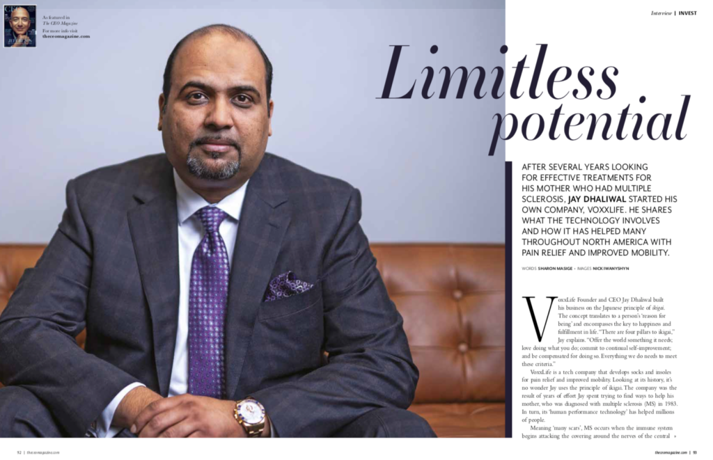 Screenshot of VoxxLife CEO Jay Dhaliwal in The CEO Magazine
